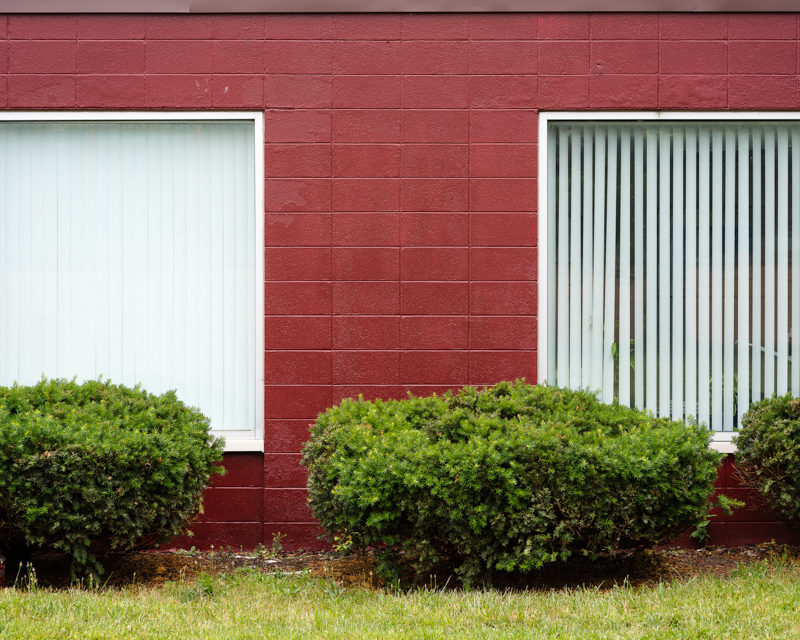 Two Windows in Red, 2013